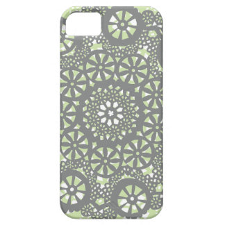 Charcoal and Mint Geometric Pattern iPhone SE/5/5s Case