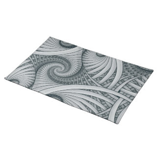 """Charcoal and Paper"" Placemat Cloth Placemat"