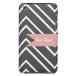 Charcoal and White Chevron iPod Touch 4 Case iPod Touch Covers