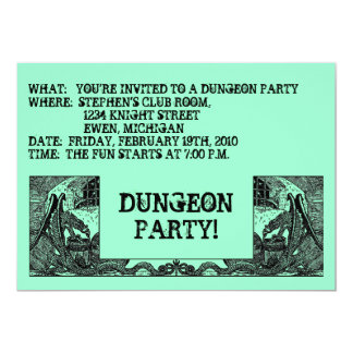 CHARCOAL BLACK DRAGONS DUNGEONS ~PARTY INVITATION! CARD