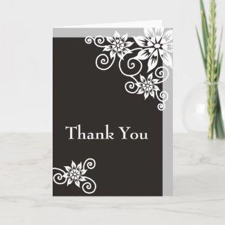 Charcoal Border : : Designer Thank You Cards card