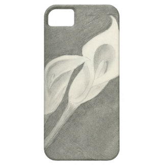 Charcoal Calla Lilies iPhone SE/5/5s Case