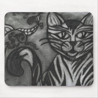 Charcoal Cat Mouse Pad