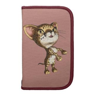 Charcoal Cheetah Wild Cat Cute Artistic Toon Folio Planners