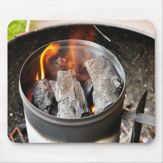 Charcoal Chimney Starter Mouse Pad