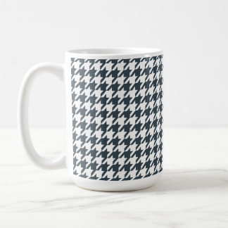 Charcoal Color Houndstooth Mugs