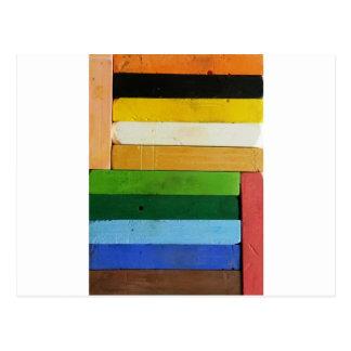 Charcoal Crayons Postcard