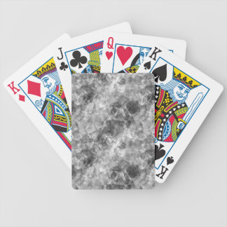 Charcoal Crumpled Texture Bicycle Playing Cards