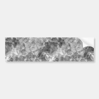 Charcoal Crumpled Texture Car Bumper Sticker