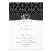 Black and white wedding invites by mgdezigns