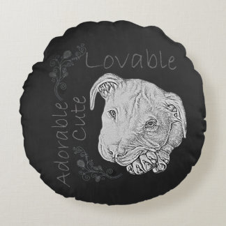 Charcoal Drawing of Pitbull on Pillow
