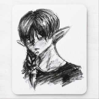 Charcoal Elf Mouse Pad