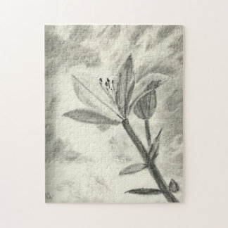 Charcoal Flower Jigsaw Puzzle