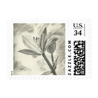 Charcoal Flower Postage