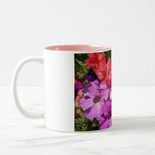 charcoal flowers mug