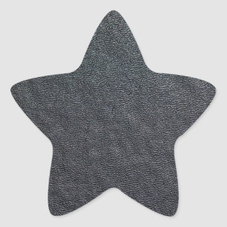 Charcoal Grain Faux Leather Star Sticker