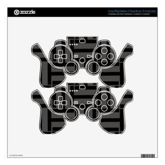 Charcoal Gray and Black T Weave Skin For PS3 Controller