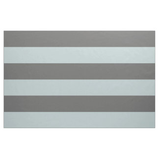 Charcoal Gray and Cloud Wide Stripes Large Scale Fabric