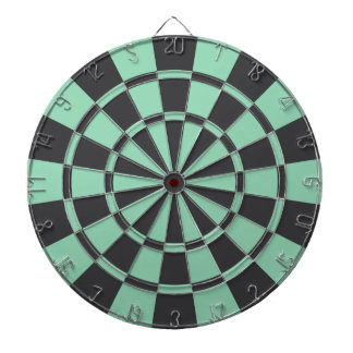 Charcoal Gray And Mint Dartboard