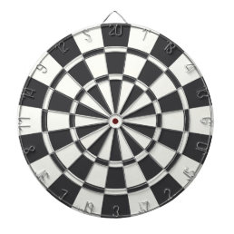 Charcoal Gray And White Dart Board