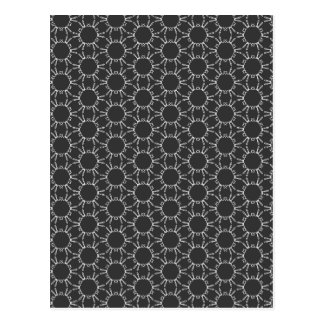 Charcoal Gray and White Pattern Postcard