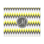 CHARCOAL GRAY AND YELLOW CHEVRON CANVAS PRINT
