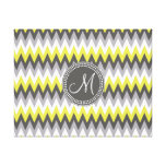 CHARCOAL GRAY AND YELLOW CHEVRON CANVAS PRINTS