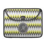 CHARCOAL GRAY AND YELLOW CHEVRON SLEEVES FOR MacBooks