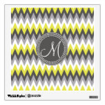 CHARCOAL GRAY AND YELLOW CHEVRON ROOM GRAPHIC