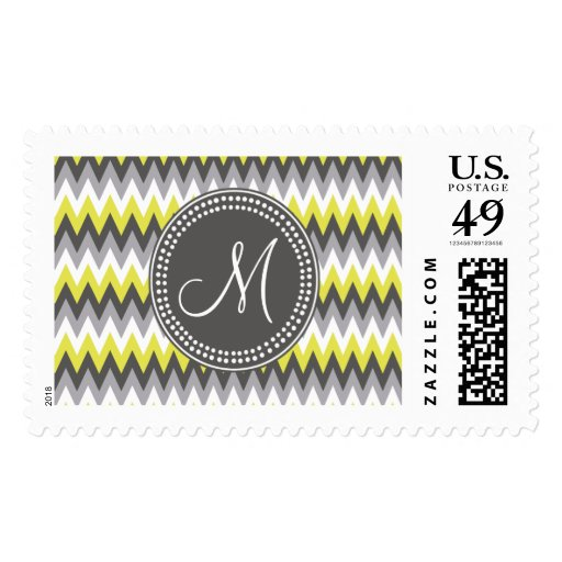 CHARCOAL GRAY AND YELLOW CHEVRON STAMPS