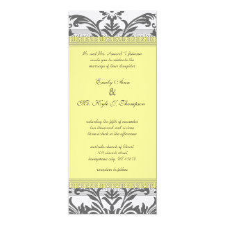 Charcoal Gray and Yellow Wedding Invitations