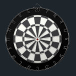 "Charcoal Gray Black And White Dartboard With Darts<br><div class=""desc"">Charcoal Gray Black And White Dart Board</div>"