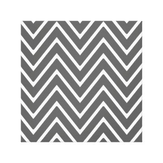 Charcoal Gray Chevron Pattern 2 Gallery Wrapped Canvas