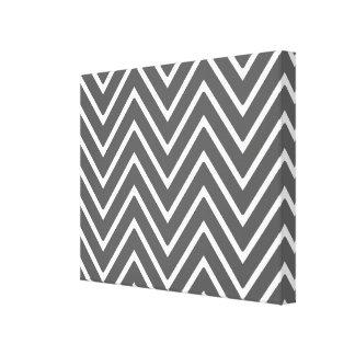 Charcoal Gray Chevron Pattern 2 Canvas Print