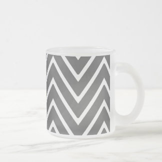 Charcoal Gray Chevron Pattern 2 Coffee Mug