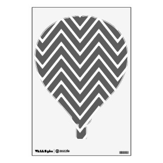 Charcoal Gray Chevron Pattern 2 Wall Decals