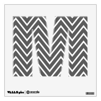 Charcoal Gray Chevron Pattern 2 Room Graphic