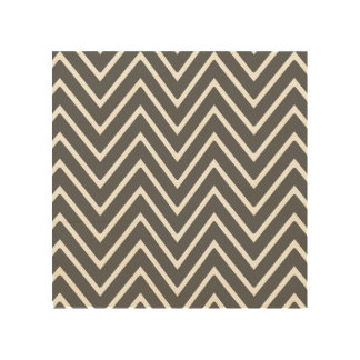 Charcoal Gray Chevron Pattern 2 Wood Canvases