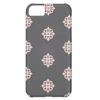 charcoal gray damask iPhone 5C case