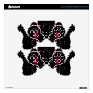 Charcoal Gray Hot Pink Seamless Pattern PS3 Controller Skins