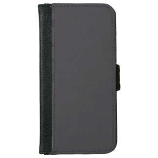 """""""Charcoal Gray"""" iPhone 6 Wallet Case"""