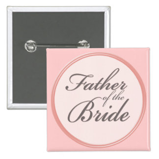 Charcoal gray light pink Father of the Bride Pins