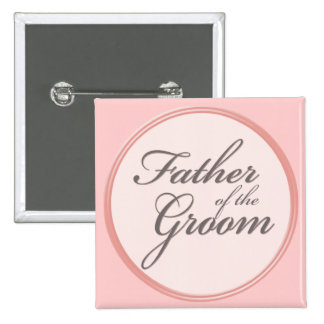 Charcoal gray light pink Father of the Groom Button