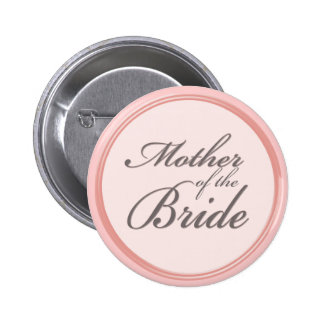 Charcoal gray light pink Mother of the Bride Pin
