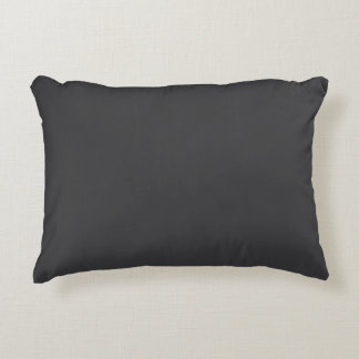 """Charcoal Gray"" Accent Pillow"