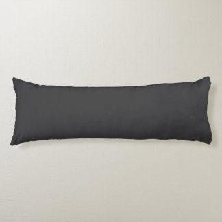 """Charcoal Gray"" Body Pillow"