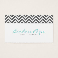 Charcoal Gray Modern Chevron Stripes Business Card at Zazzle
