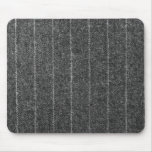 Charcoal Gray Pinstripe Tweed Slate Black Fabric Mouse Pad