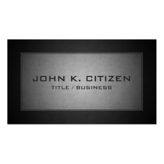 Charcoal Gray Professional Border Business Card