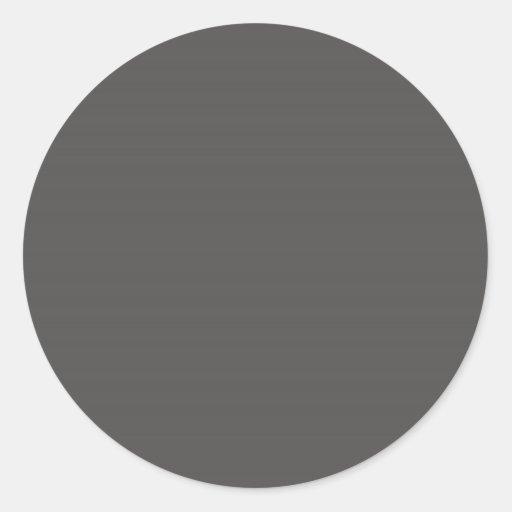 Charcoal Gray Round Sticker